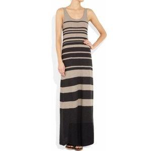 Vince Striped Cotton Maxi Tank Dress S